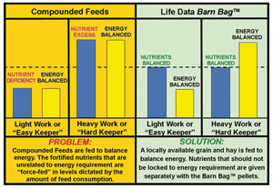 Barn Bag Comparison with Compounded Feeds